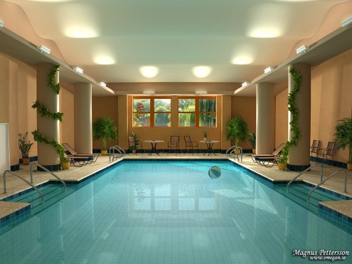 Indoor spa and pool