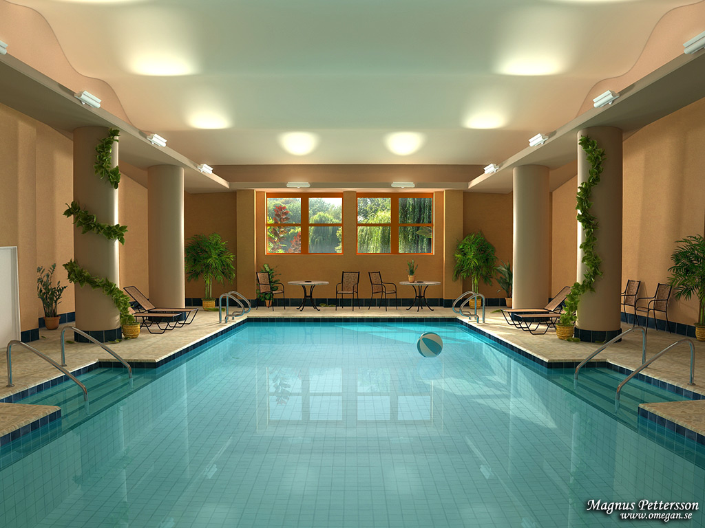 indoor spa and pool - Home Design Picture