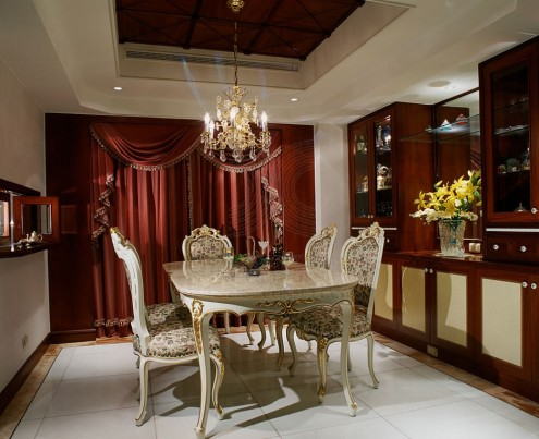oriental dining furniture