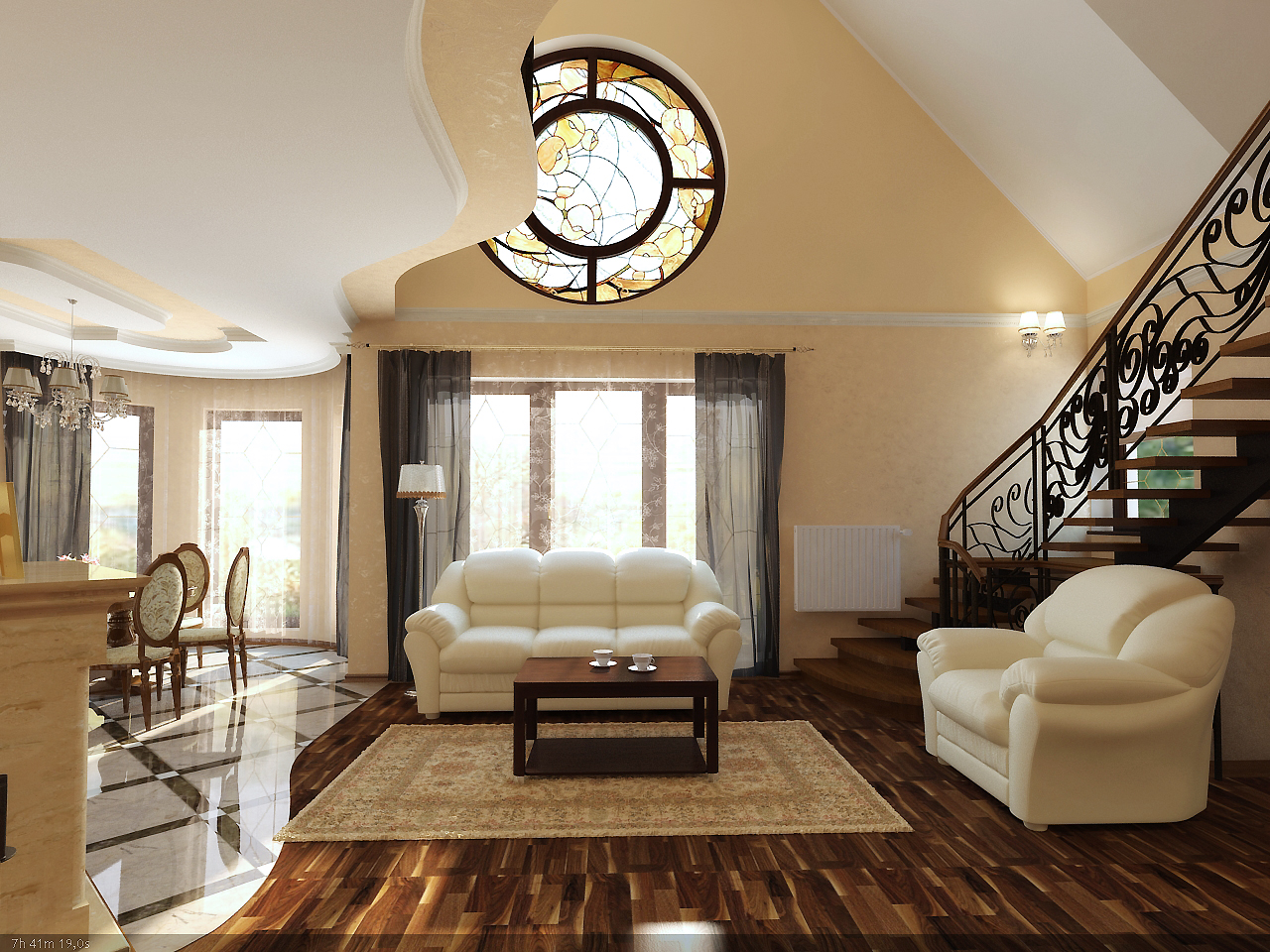 Classic interior design for House decoration inside