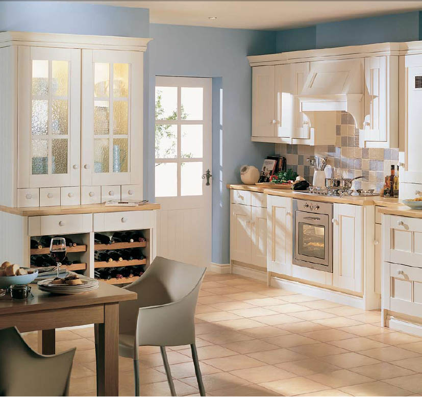 English country style kitchens for Parisian style kitchen ideas