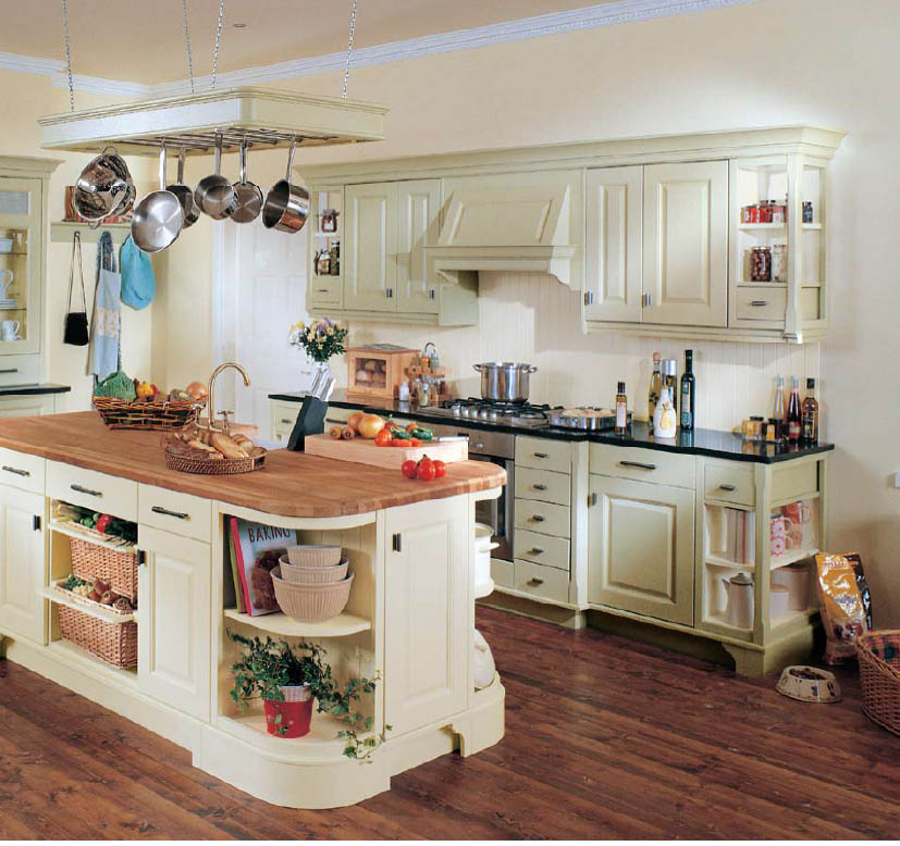 Lovely Country Kitchen Cabinets