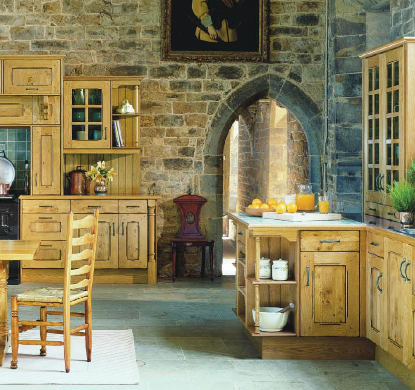 English country style kitchens for French provincial home designs