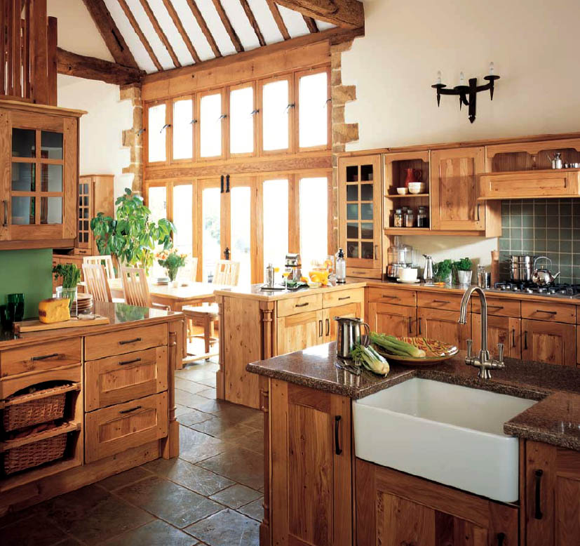 English country style kitchens for Kitchen styles pictures