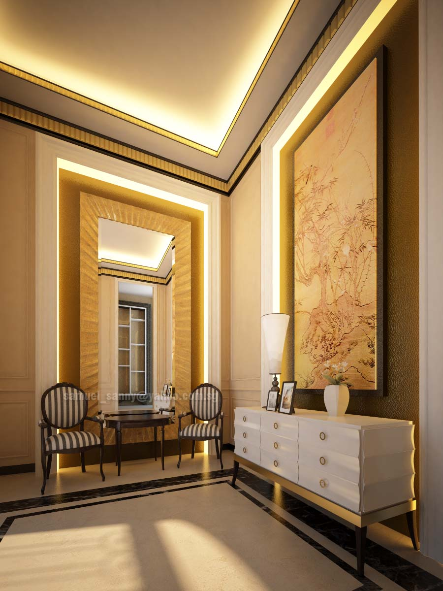 Classic interior design for Foyer ceiling design