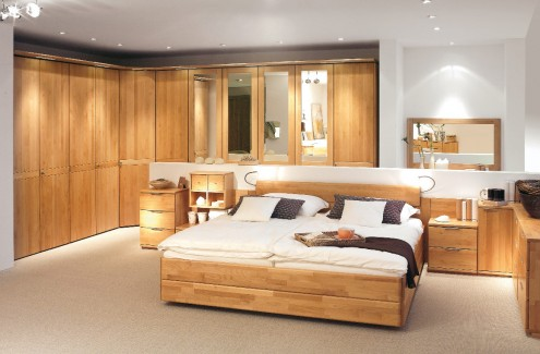 wood finish bedroom
