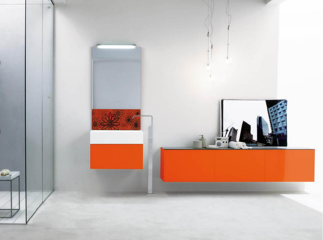 Orange Bathroom Ideas - talentneeds.com -