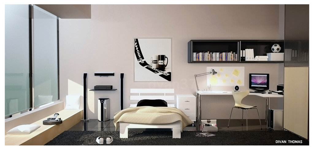 Teen Room Design Ideas 36 trendy teen room design ideas Bedroom_1_by_dvan37