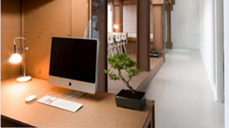 office made out of cardboard cardboard office