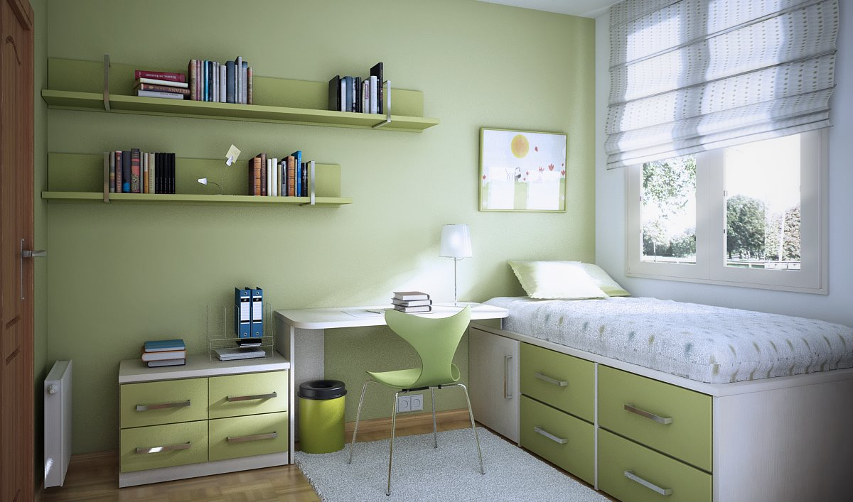 Kids room designs and children 39 s study rooms for Bedroom ideas green