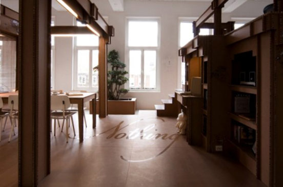 cardboard creative office