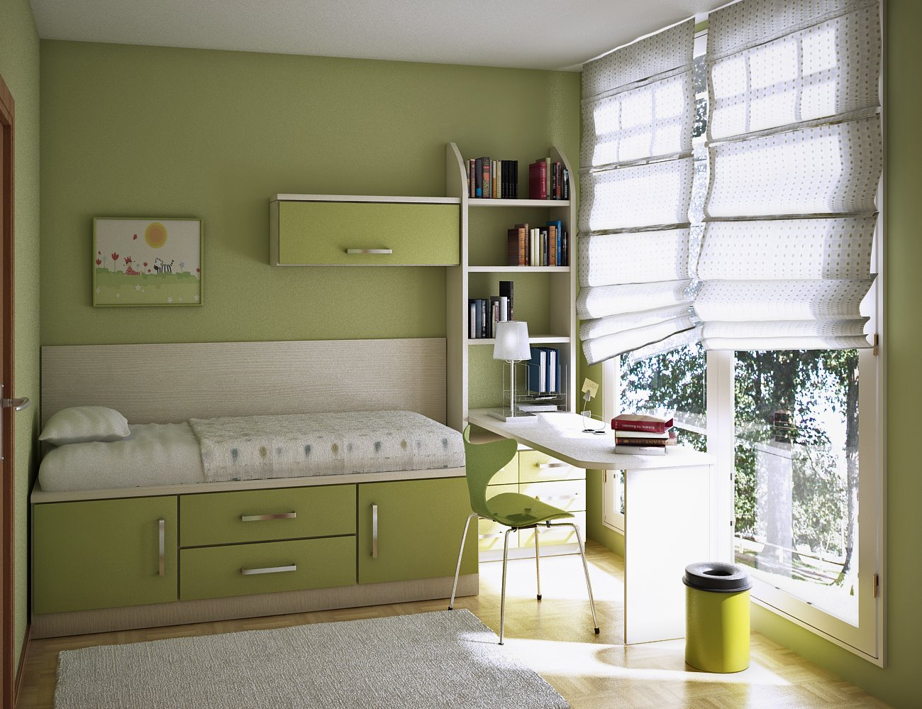 green kids room - Home Room Design Ideas