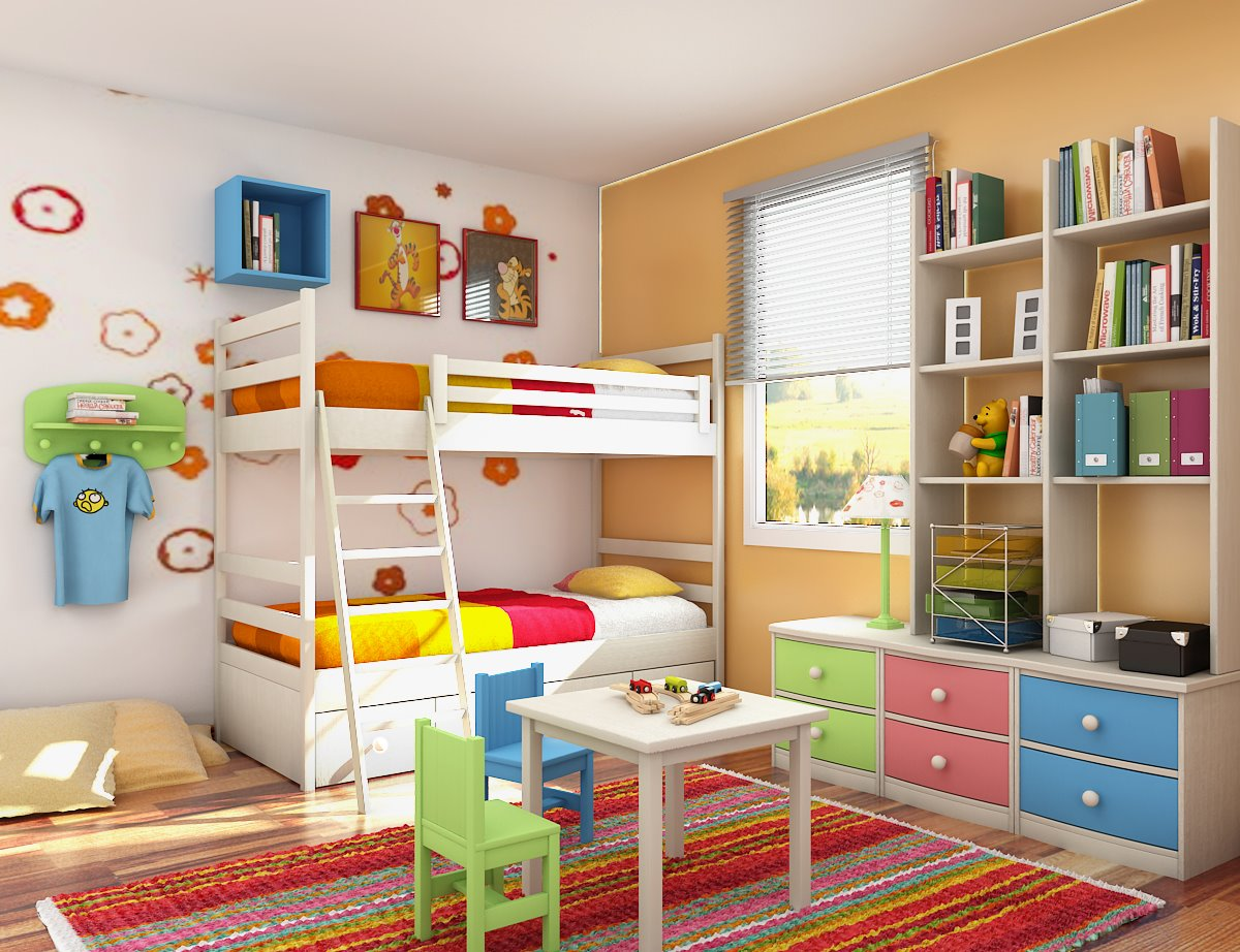 kids room designs and children s study rooms rh home designing com For Room with Simply Design Living Room Decorating Ideas