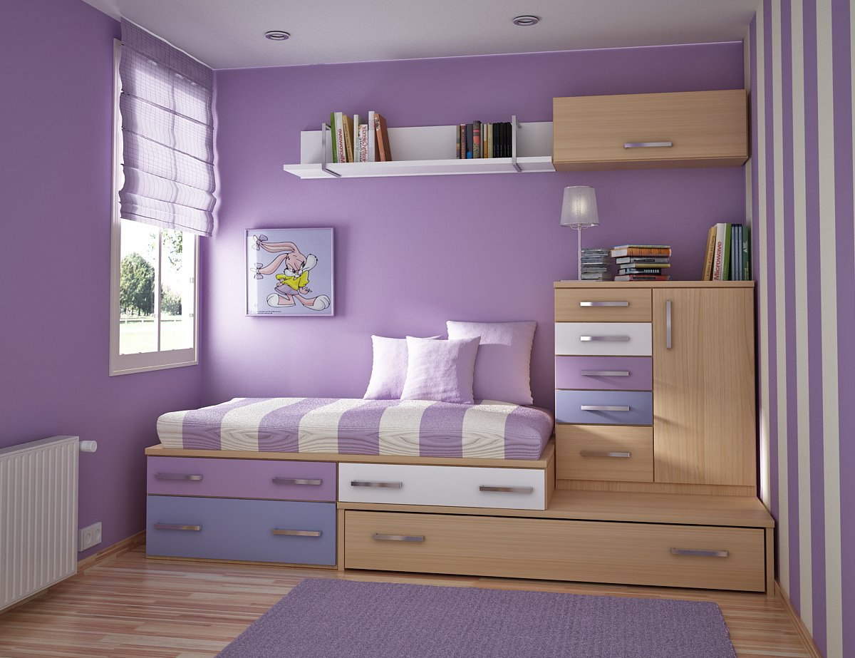kids room violet - Interior Design Kids Bedroom