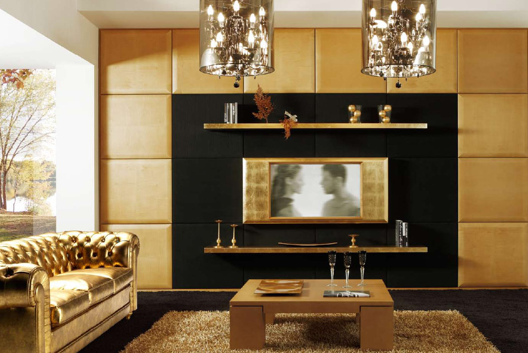 Modern art deco living rooms - Deco lounge tv ...