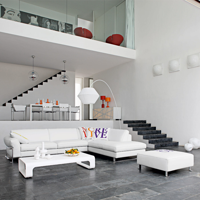 Modern White Living Room. Fashion And Interior Design ...