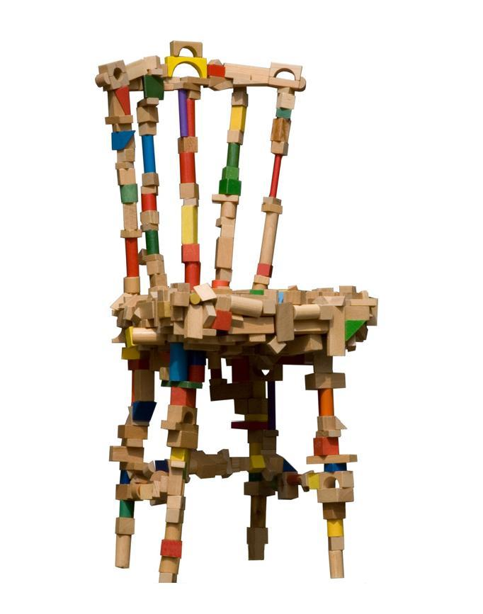 Creative chairs from odd materials Creative wooden furniture