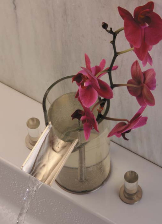 bathroom faucet flower