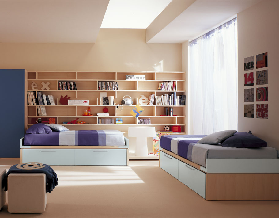 amazing kids room designs by italian designer berloni. Black Bedroom Furniture Sets. Home Design Ideas