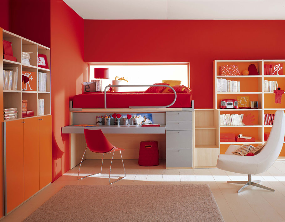 Amazing kids room designs by italian designer berloni - Study room furniture designe ...