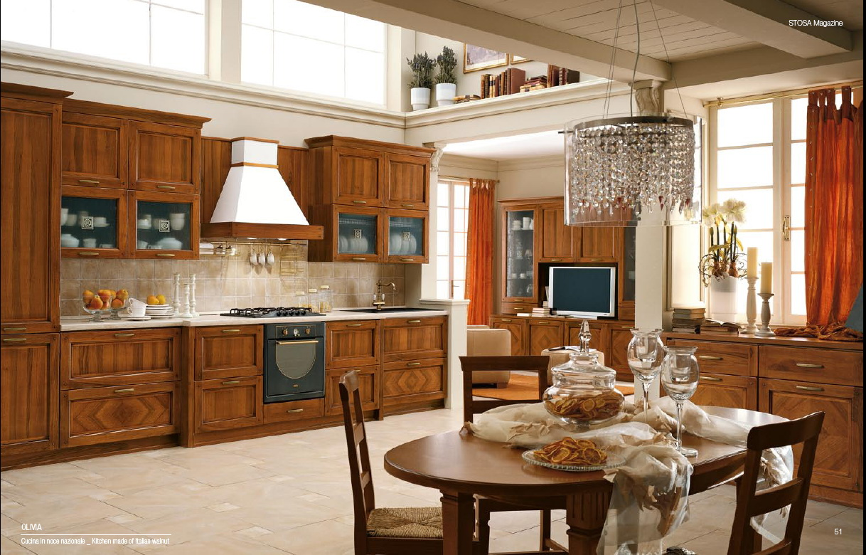 Classical style kitchens from stosa for Kitchen pictures with oak cabinets