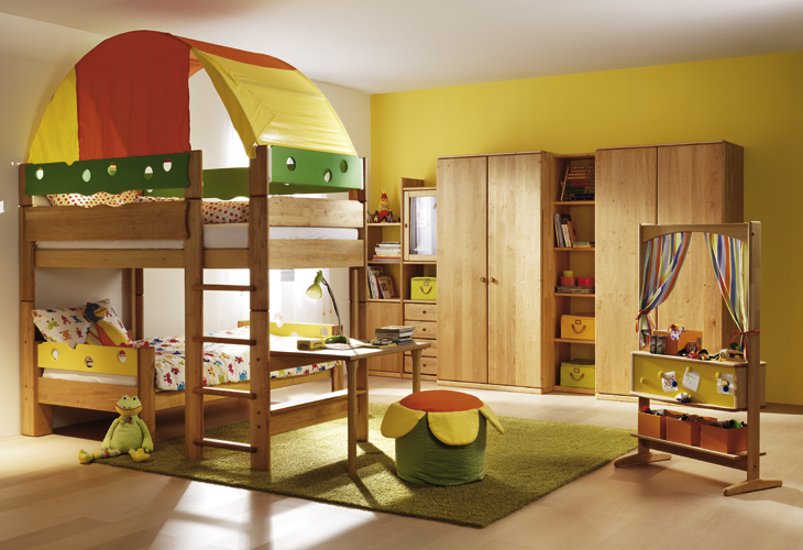 ... and their wooden bunk beds would delight kids with its treehouse-like ...