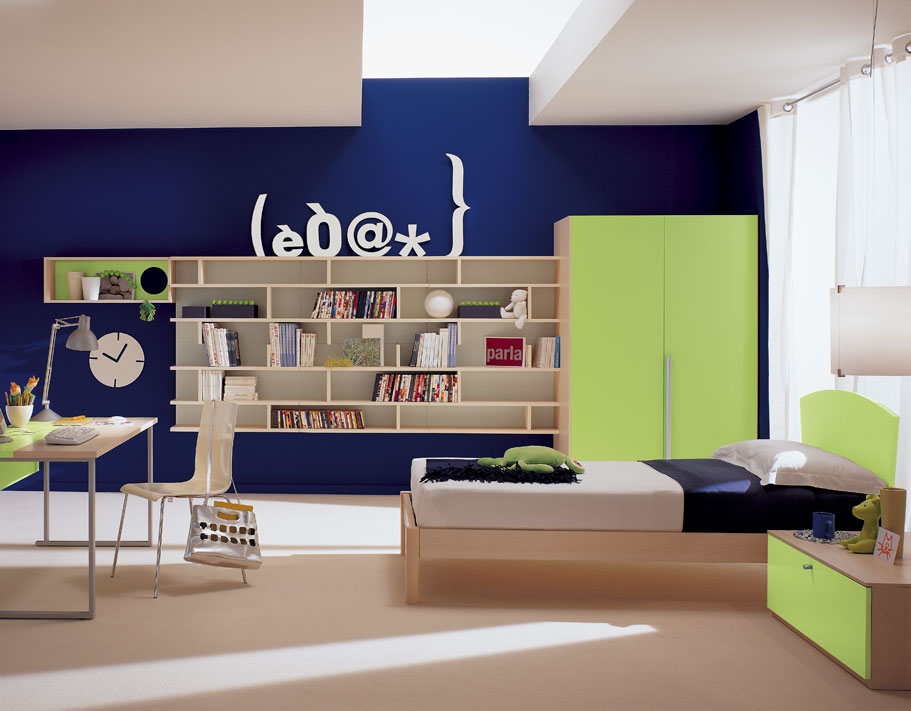 Amazing kids room designs by italian designer berloni Home study furniture design