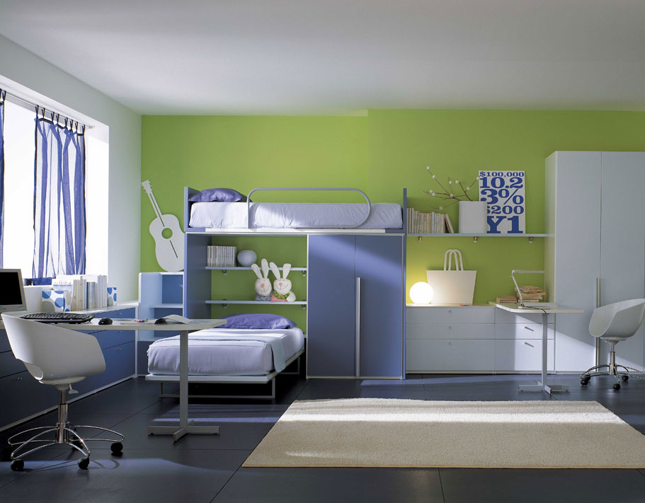 Amazing kids room designs by italian designer berloni for Room interior design for teenagers
