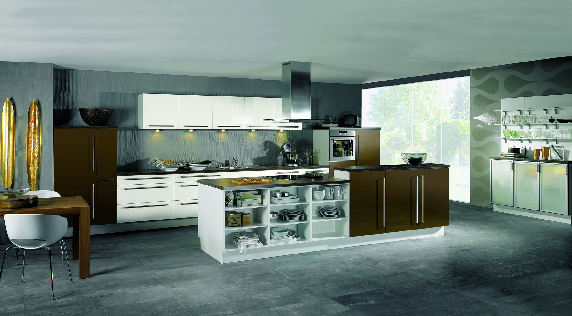 Types of kitchens alno for Contemporary kitchen decorative accessories