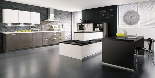 Types of kitchens alno for Kitchen floor inspiration