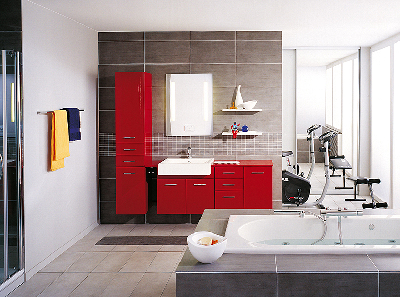 Modern bathroom designs from schmidt for Designing small bathroom ideas
