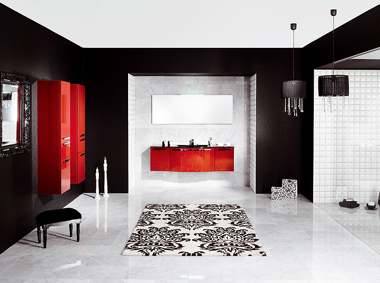 Red And Black Bathroom Design Ideas ~ Modern bathroom designs from schmidt