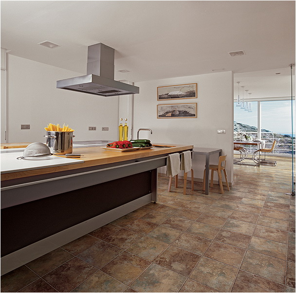 Flooring Design For Kitchen: Beautiful Ceramic Floor Tiles From Refin