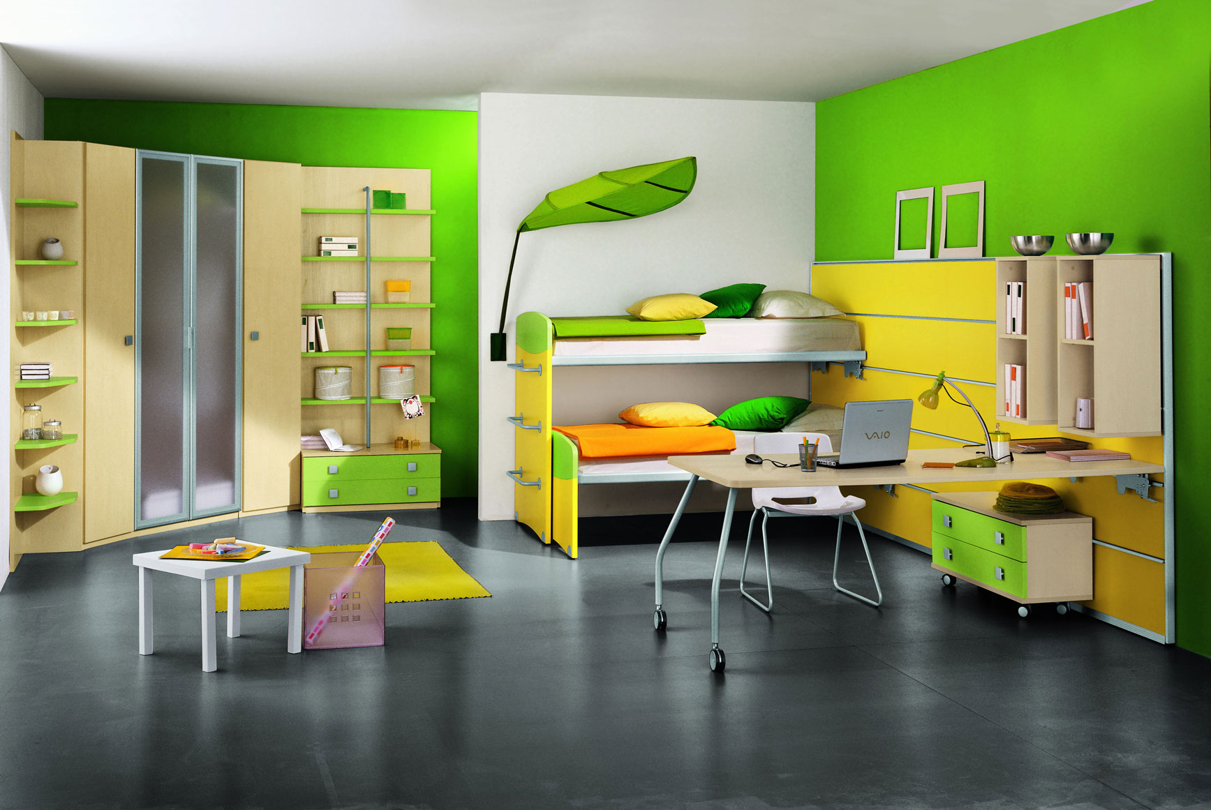 modern kids room green - Kids Interior Design Bedrooms