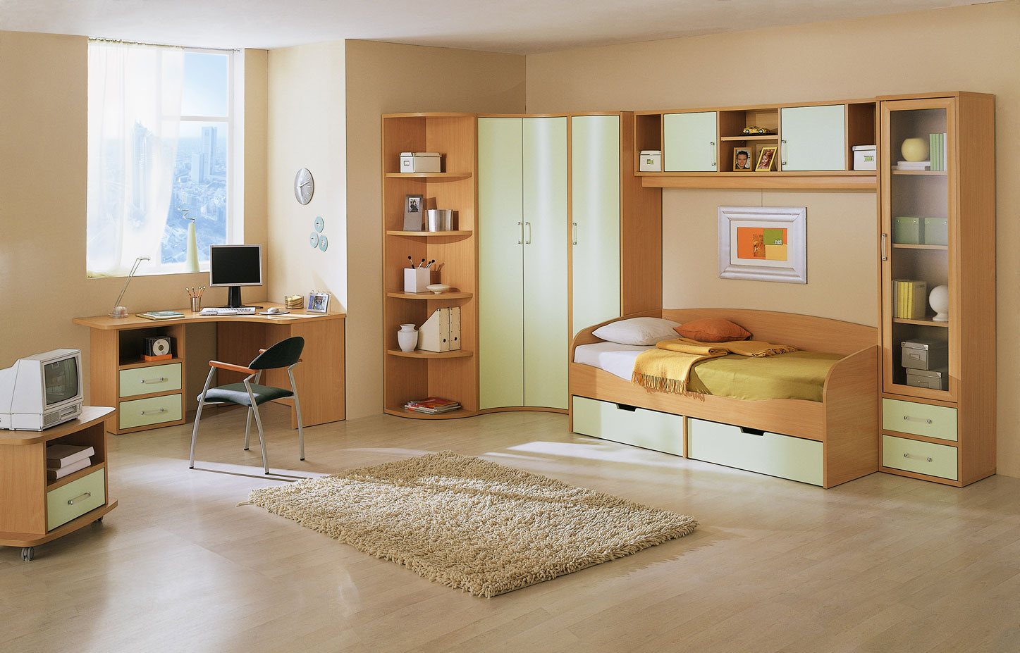 Kid 39 s rooms from russian maker akossta for L bedroom designs