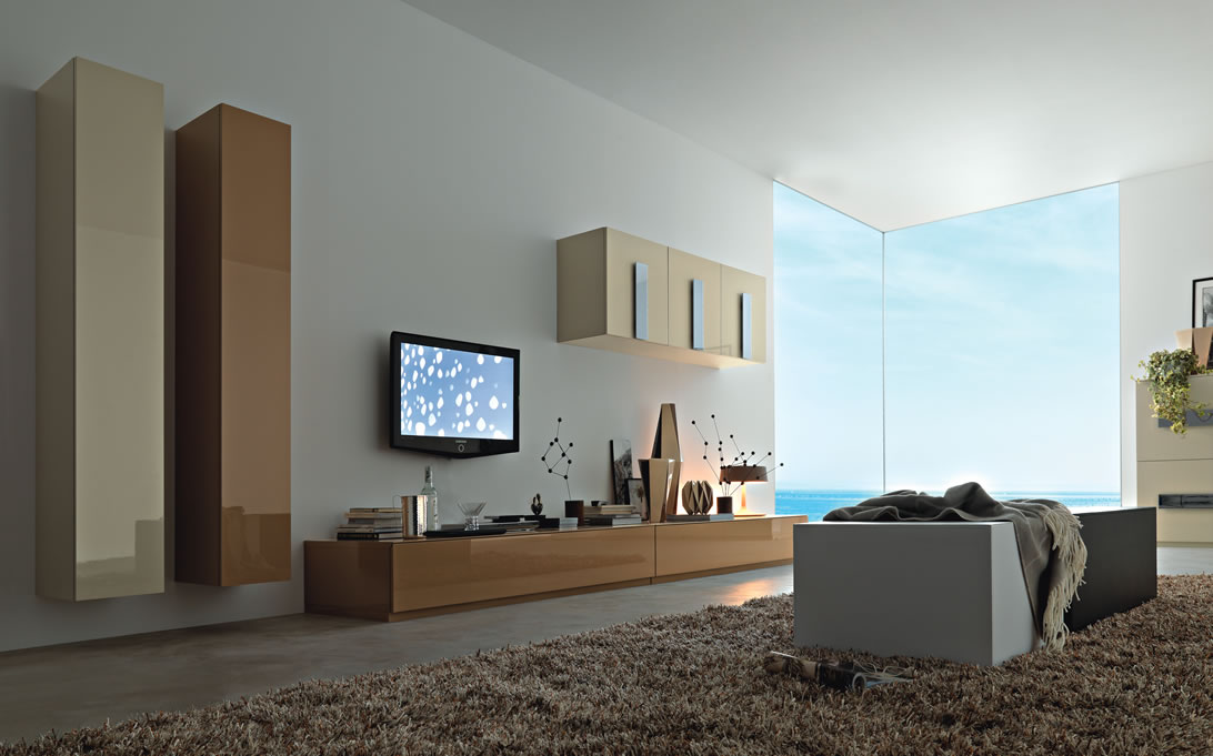 Modern wall units from momentoitalia - Lcd wall designs living room ...