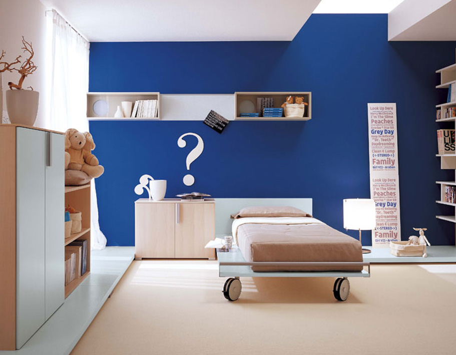 Amazing kids room designs by italian designer berloni Kids room wall painting design