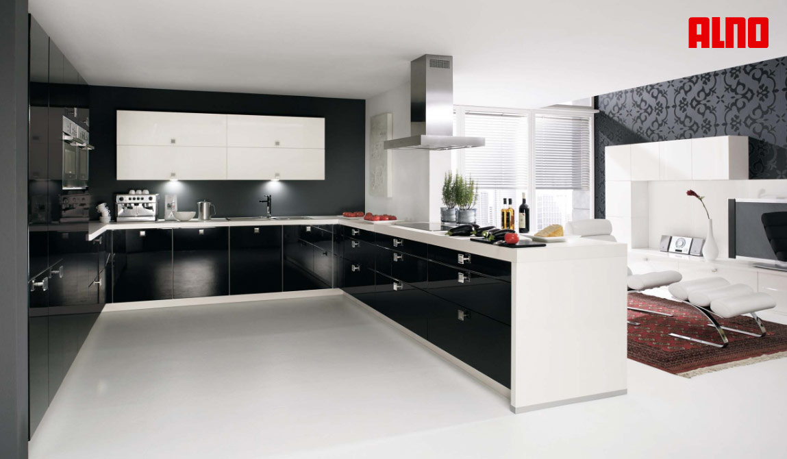 kitchens New Wood Kitchen Designs A small U-shaped kitchen