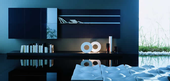 Wall Modern Design 10 tips to master your modern photo wall Wall Unit Lighting