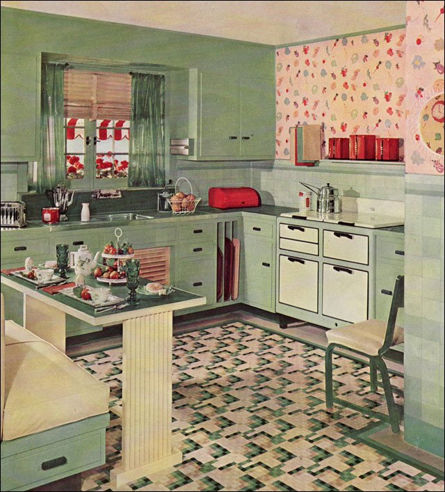 Retro Kitchen Design Sets And Ideas - Kitchen-design-interior-decorating-set