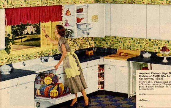 1950s retro american kitchen
