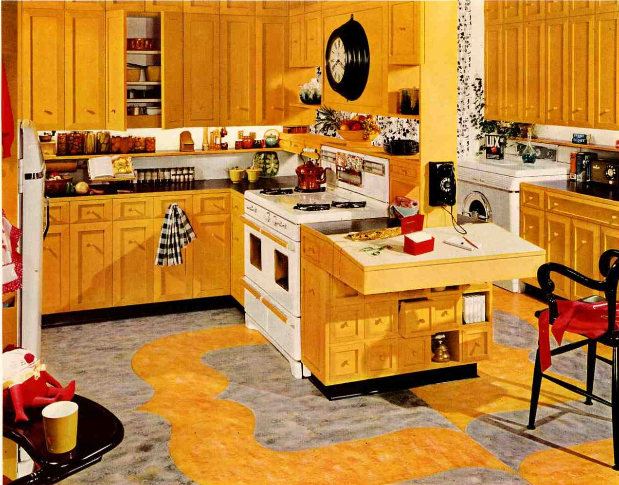 Retro kitchen design sets and ideas for Kitchen cabinets 50 style