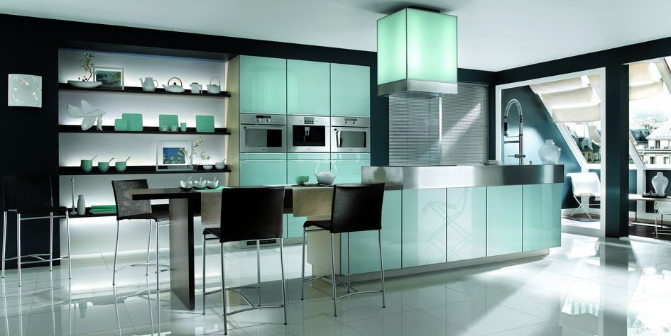 Black and white kitchen designs from mobalpa for Awesome kitchen design ideas