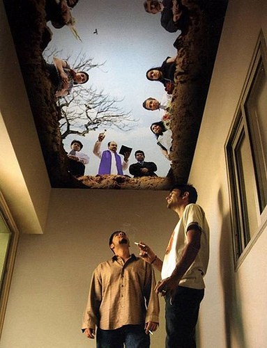 smoking room ceiling art