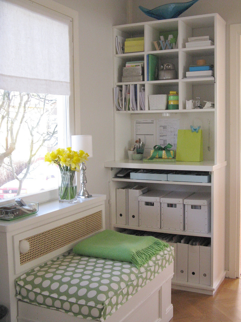 Craft room home studio ideas Small room organization