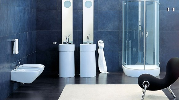cylindrical elegant bathrooms