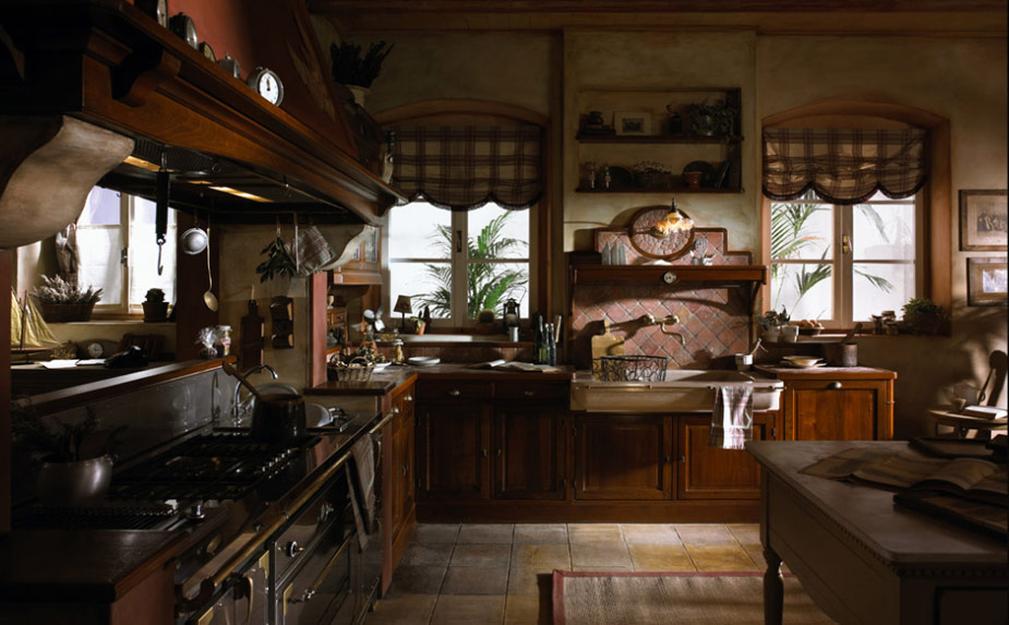 Old town and country style kitchen pictures for French country kitchen designs photos