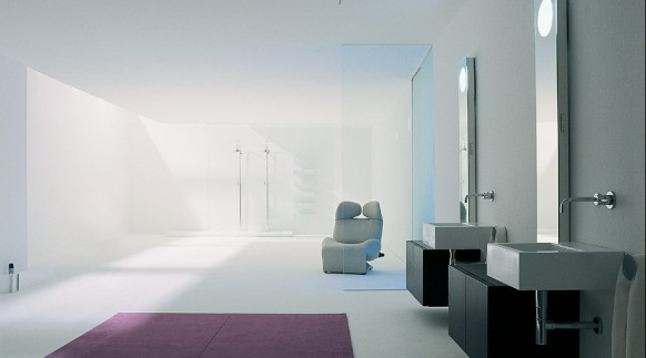 geometrical shaped bathrooms