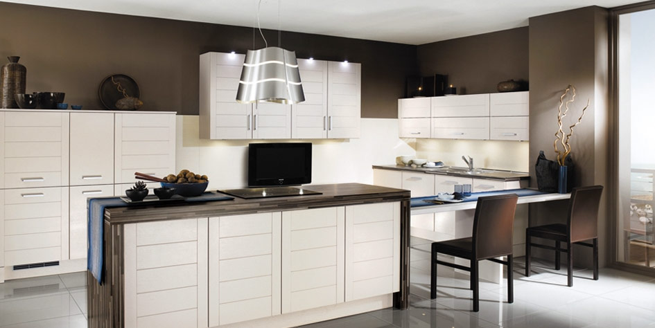 Black and white kitchen designs from mobalpa for Dark brown kitchen ideas