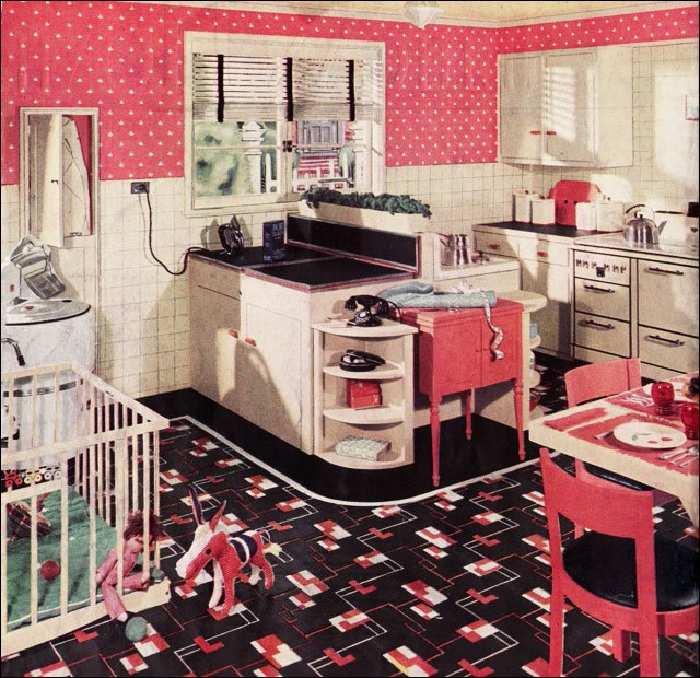 1950s Kitchen Design retro kitchen design sets and ideas